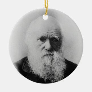 Old Charles Darwin 2 Atheist Atom  Round Ornament
