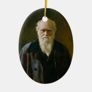 Old Charles Darwin Atheist A  Oval Ornament
