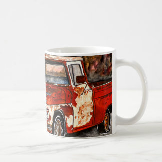 old chevy chrevrolet truck antique art painting coffee mug
