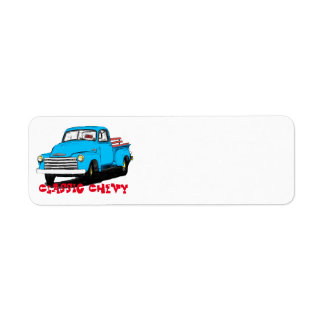 Old Chevy Pickup Truck Label