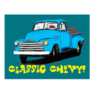 Old Chevy Pickup Truck Postcard