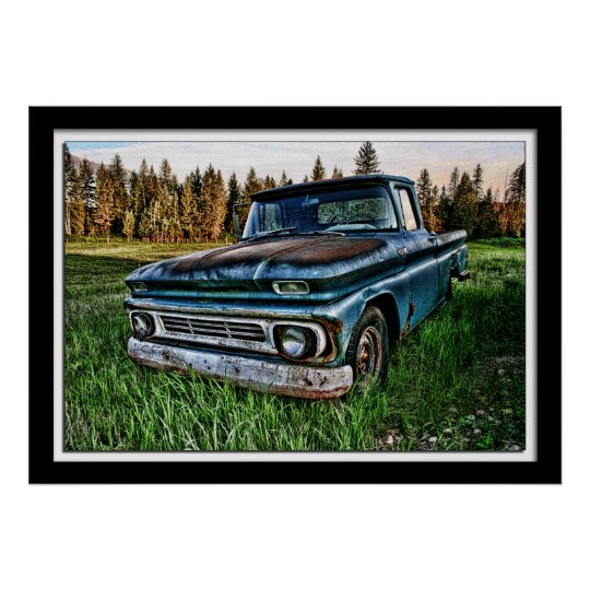Old Chevy Truck >> Old Chevy Truck By Lillian Photography Poster