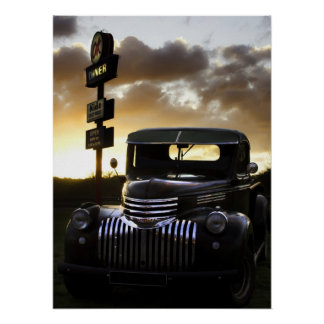 Old Chevy Truck Poster/Print