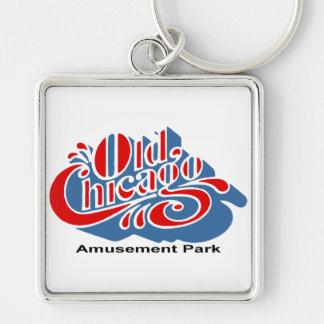 Old Chicago Amusement Park, Bolingbrook, Illinois Silver-Colored Square Keychain