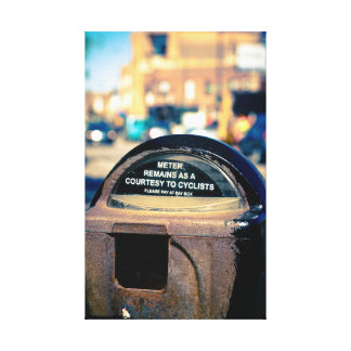 Old Chicago parking meter Stretched Canvas Prints