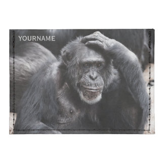 Old Chimpanzee custom card wallet