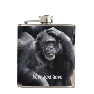 Old Chimpanzee custom flask