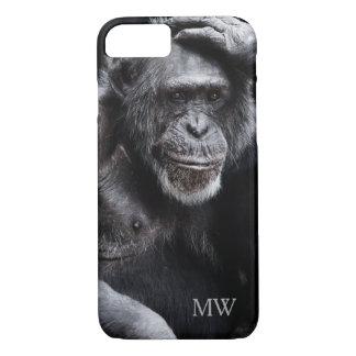 Old Chimpanzee custom monogram phone cases