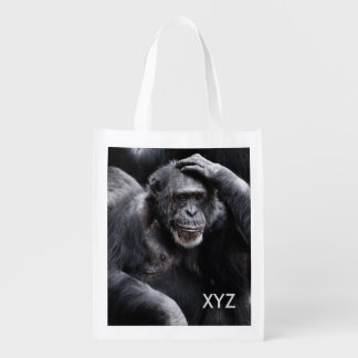 Old Chimpanzee custom monogram reusable bag Market Tote