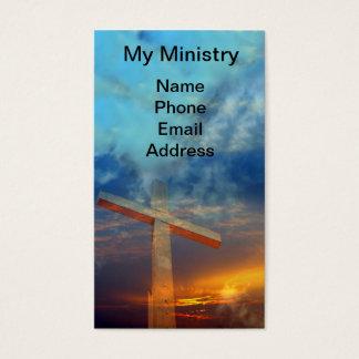 Old Christian Cross Against a Beautiful Sky Business Card