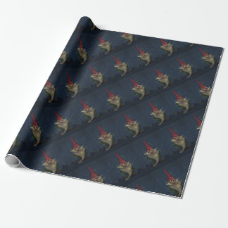 Old Christmas Gnome Wrapping Paper