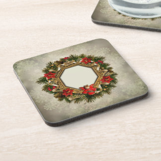 Old Christmas Wreath Coasters (set of 6)