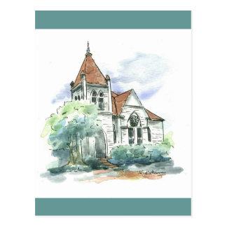 Old Church, Bartlett, TX Postcard