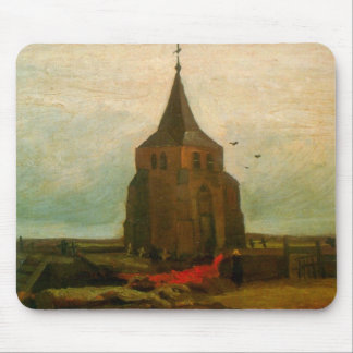 Old Church by Vincent van Gogh Mouse Pad