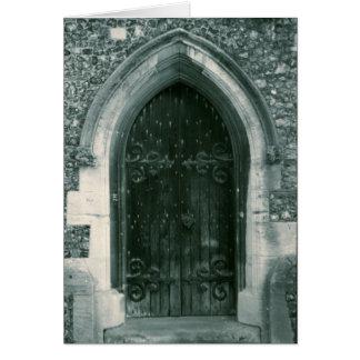 Old Church Door England Notecard