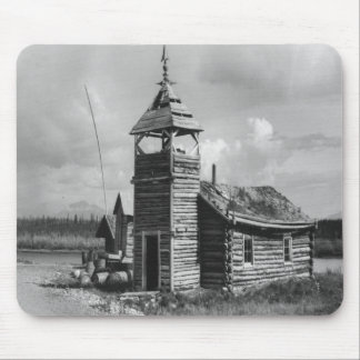 Old church in B/W Mouse Pad