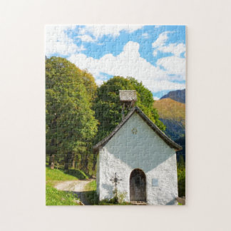 Old Church in the Mountains Jigsaw Puzzle