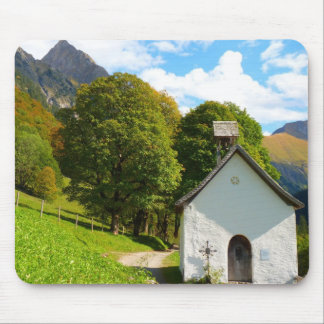 Old Church in the Mountains Mouse Pad