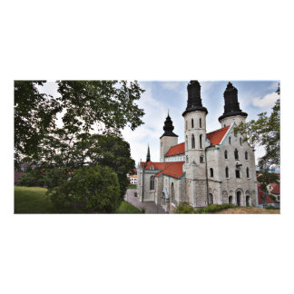 Old Church in Visby Sweden Card