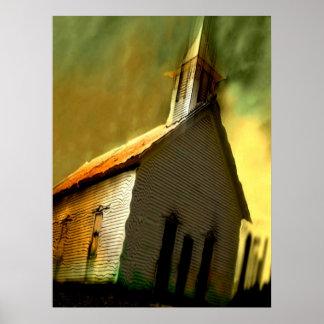 old church print