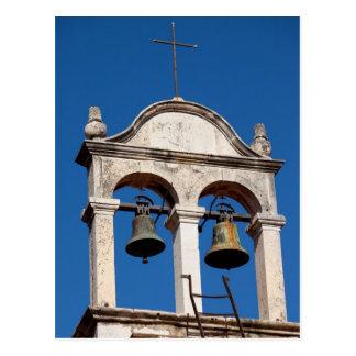 Old Church Twin Bells Postcard