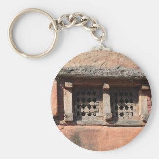 Old Church Window Basic Round Button Keychain