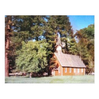 Old Church Yosemite  California. Vintage Postcard