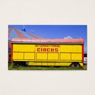 old circus wagon business card