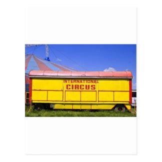 old circus wagon postcard
