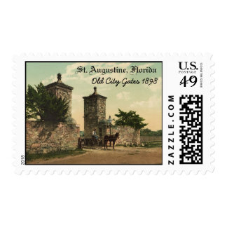 Old City Gates, St. Augustine, Florida 1898 Stamp