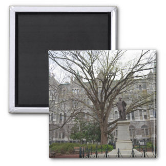 Old City Hall, Richmond, VA in spring 2 Inch Square Magnet