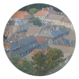 old city melamine plate