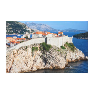 Old City of Dubrovnik on a High Cliff Canvas Print