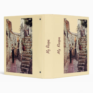 Old city waiter recipe binder