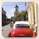 Old classic American auto in Guanabacoa a town Coaster