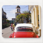 Old classic American auto in Guanabacoa a town Mouse Pad