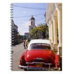 Old classic American auto in Guanabacoa a town Spiral Note Book