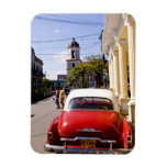Old classic American auto in Guanabacoa a town Rectangular Photo Magnet
