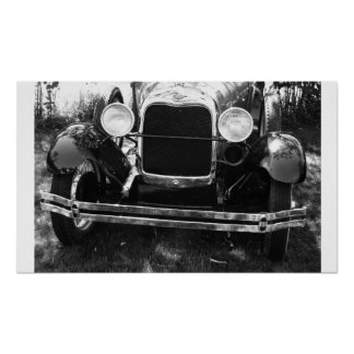 Old Classic Car Front End Grille Poster