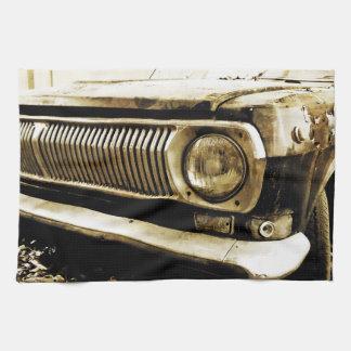 Old Classic Car Headlight #2 Hand Towel