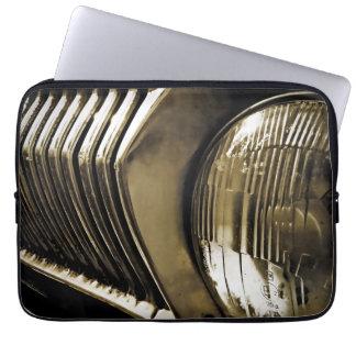 Old Classic Car Headlight Laptop Sleeve