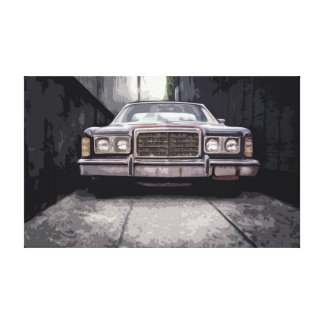 Old Classic Car in a mysterious Alley Canvas