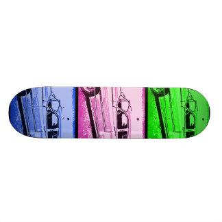 Old Classic Car Watercolor Pop Art Print Skateboard