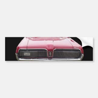 Old classic mercury cougar red front end bumper sticker