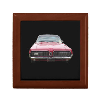 Old classic mercury cougar red front end gift box