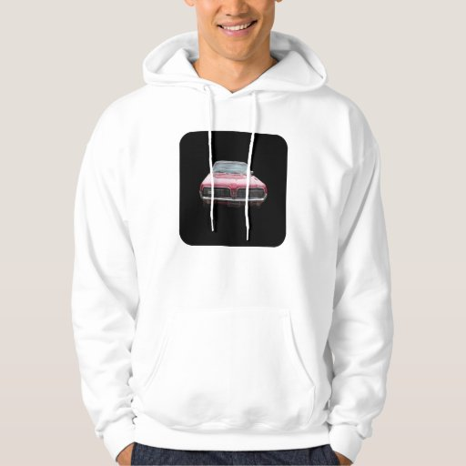 Old classic mercury cougar red front end hoodie
