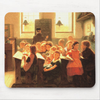Old Classroom Scene Painting Fine Art Mousepads