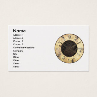 Old Clock Business Card