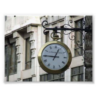 Old-clock-with-roman-letters OLD FASHIONED CLOCK R Art Photo