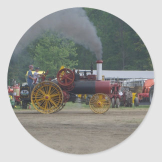 Old Coal Engine Tractor Classic Round Sticker